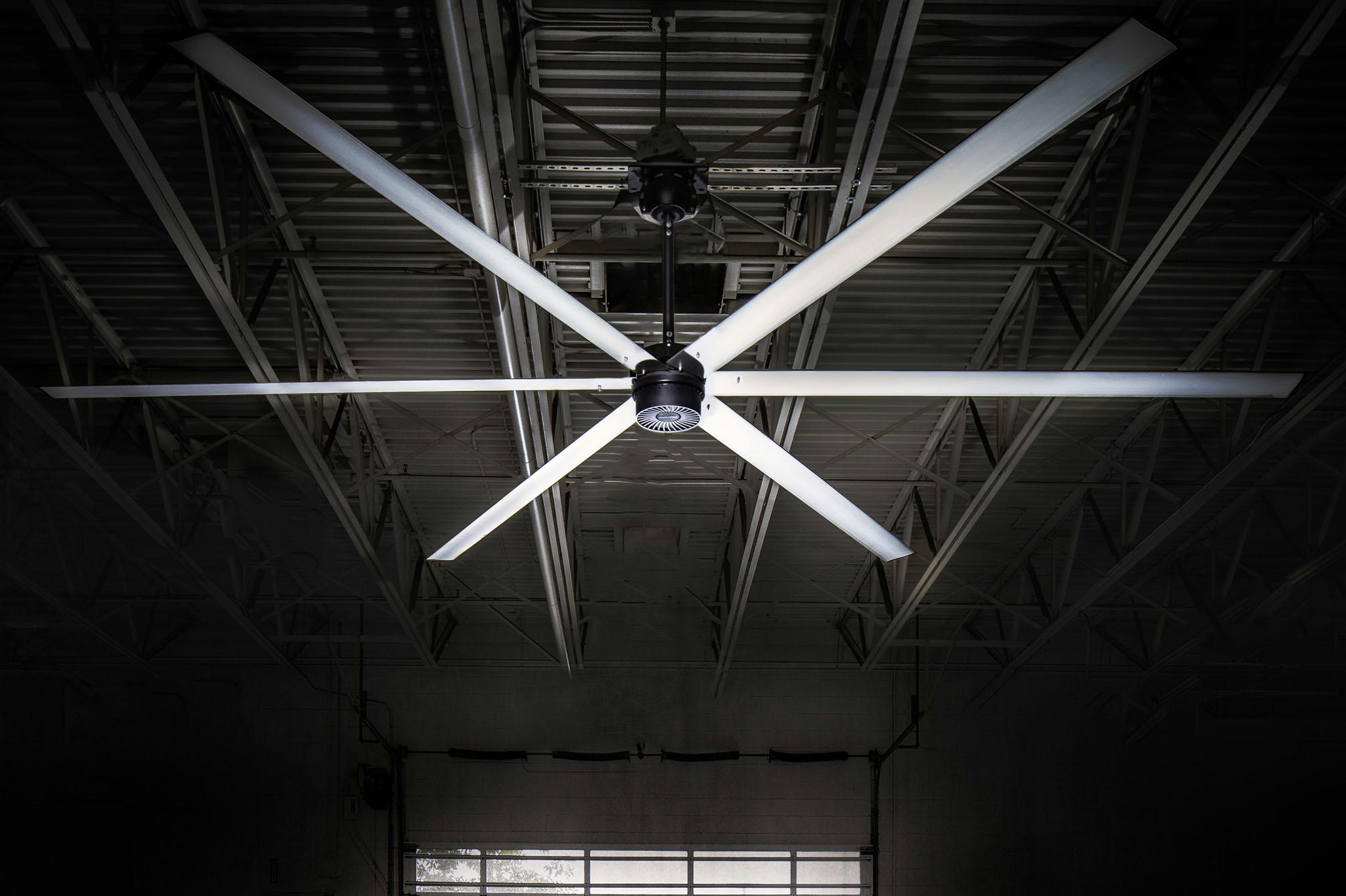 how hvls macroair fans help warehouse ventilation benco industrial. Black Bedroom Furniture Sets. Home Design Ideas